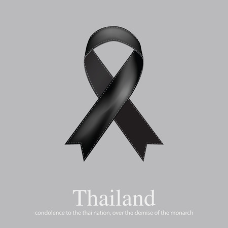 demise: Strength to the Thai people. over the demise of the monarch. The Great King Bhumibol Adulyadej was the ninth monarch of Thailand or Siam Illustration