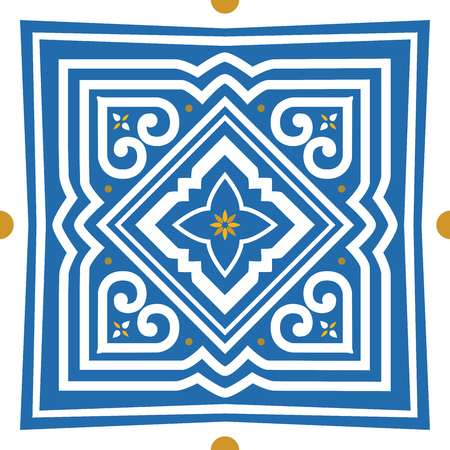 Patterns of Culture, Laos style and North Thailand style found on the cloth woven of native truncated adapted to use in various designs. Illustration