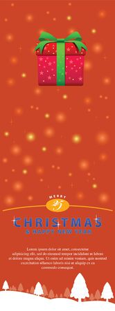 other space: Illustration for Christmas and New Year. Use to decorate for element design and blank space for some to put into words or other decorations on vertical from. Illustration