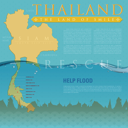 Infographic for present rescue helping Thailand flooding.