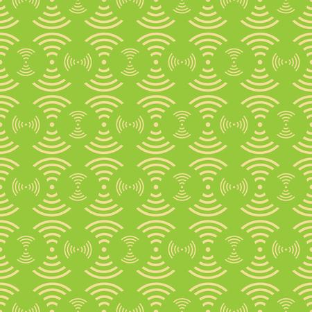 Seamless of white wave telecomunication on greenery tone