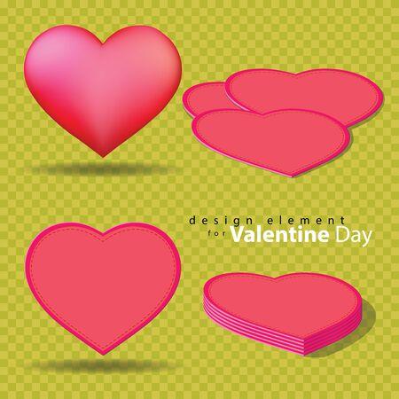 Leather Heart for design in Valentine festival.