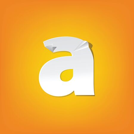 The new design of the English alphabet, a Lowercase letter was folded paper some of the letters Adapted from the font Myriad Pro extra bold.