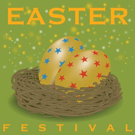 Design greeting card for Easter Season Illustration