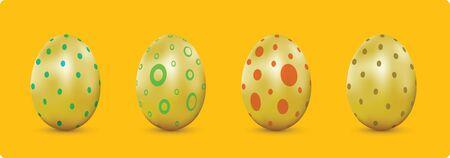 Design element skin of gold egg for Easter Season set 1.