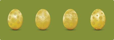 Design element skin of gold egg for Easter Season set 2.