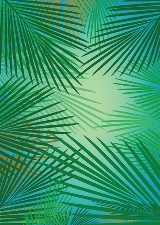 Green leaves for summer holiday poster design. Ilustrace