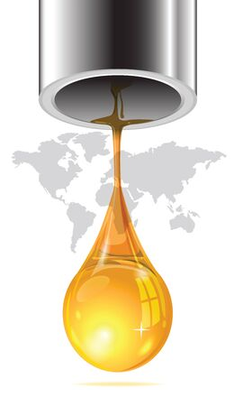 flaring: Energy from oil is draining away from the earth. Communicates with the last drop of oil flowing out of the pipe end.