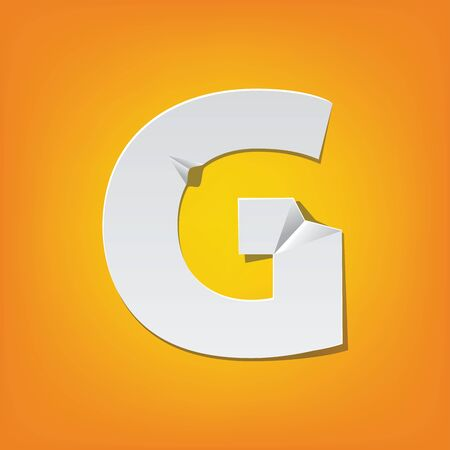 New design of English alphabet for capital letter G using paper.