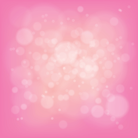 Light of pink color bokeh for Valentine's day or other celebration greeting card background. Illustration
