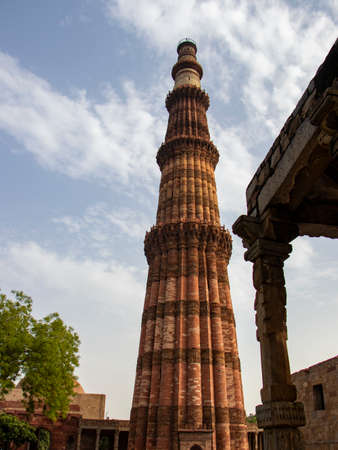 Qutub minar, tallest bricks minaret of the world, New Delhi, India