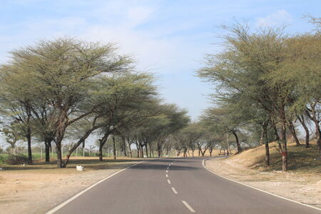 Highway in Rajasthan, India - from Jaipur to Bikaner