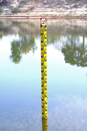 Measuring the water level photo