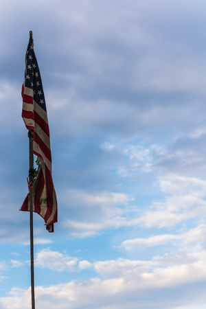 Very old American flag  photo