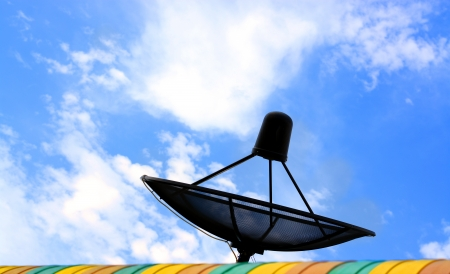 Black Satellite Dish photo