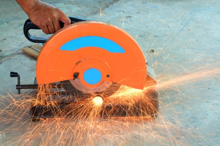 hand cutting steel  photo