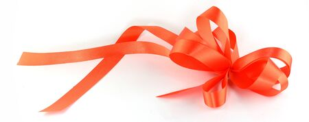 ribbin: red ribbon isolated on white background