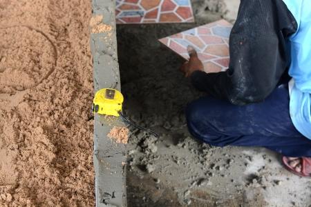 industrial tiler builder worker photo