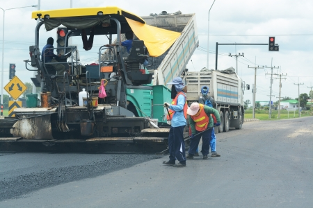 Road paving construction Imagens - 21403344