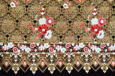 batik: Colorful batik cloth fabric background