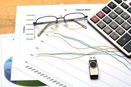 relatório de gráfico de negócios