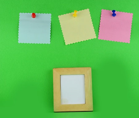 Realistic Sticky Note and photo frame photo