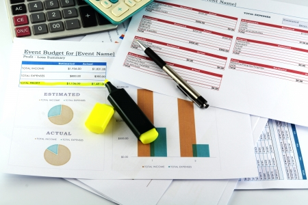 ビジネス グラフ「イベント Budger」