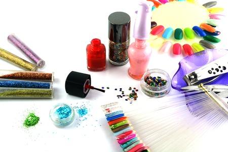 Glitter voor nagellak Stockfoto