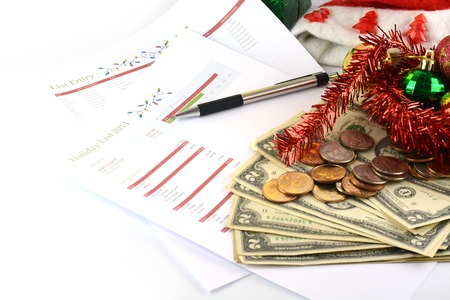 holiday budget: holiday budget with money