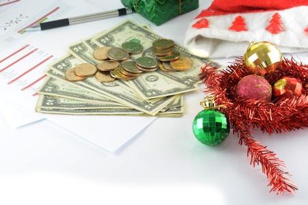 vakantiebudget met geld Stockfoto