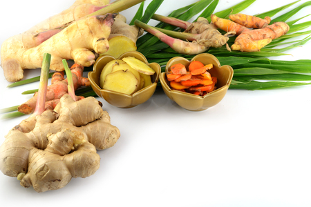 fresh ginger isolated