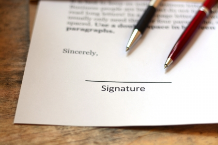 signature with pen Stock Photo - 23715508