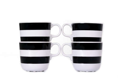 black and white cup isolated photo