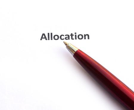 allocation: Allocation with pen