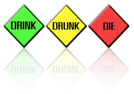 dont drink and drive: traffic Signs drink drunk die Stock Photo