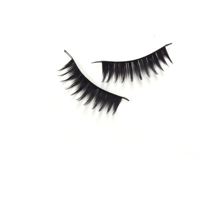 black mascara stroke isolated photo