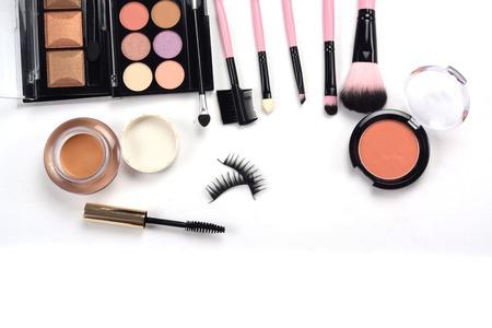 メイクブラシ、化粧品 写真素材