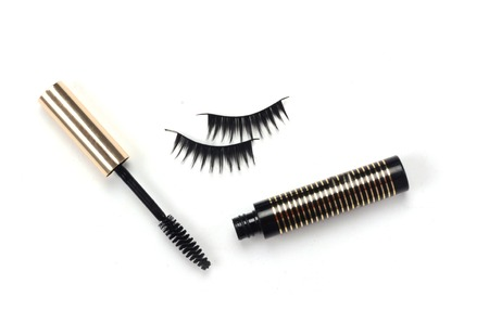 black mascara stroke isolated Stock Photo - 24033787