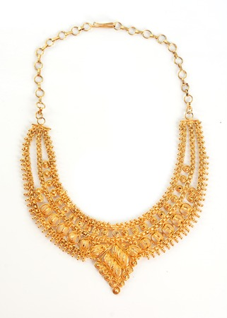 gold necklace  photo