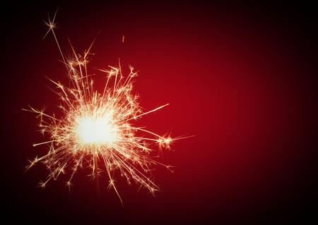 Natal e sparkler festa newyear no preto Imagens