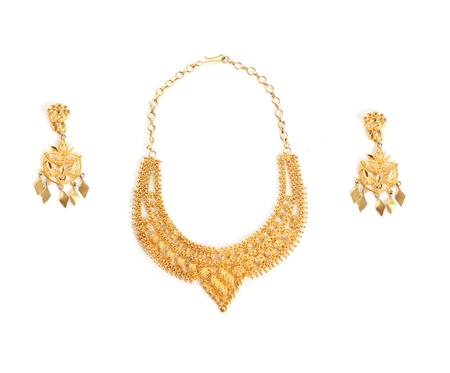 set gold necklace  photo