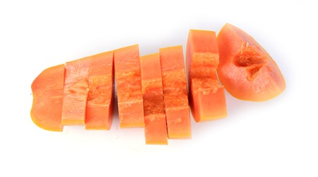 Fresh and tasty papaya isolated