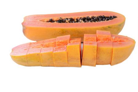 cutaneous: Fresh and tasty papaya isolated