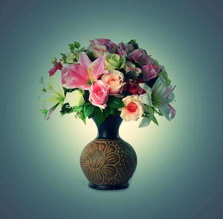 many flower and flower pot photo