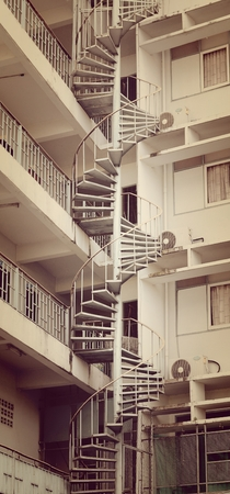 staircase are spiral  photo