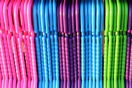colorful hangers photo