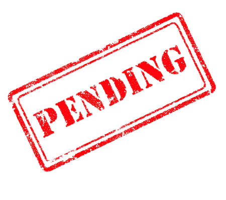 pending: pending rubber stamp Stock Photo