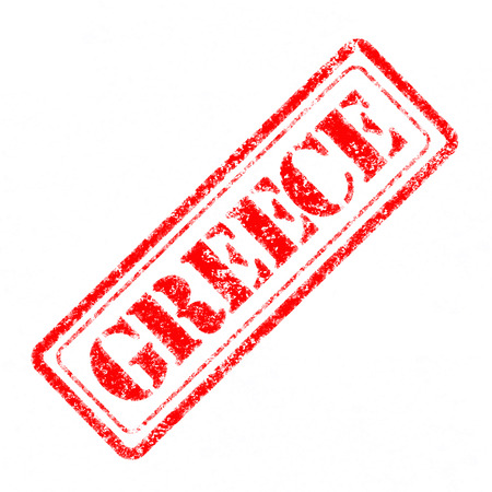 GREECE Rubber Stamp  photo