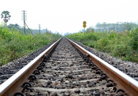 part of railroad track Stockfoto