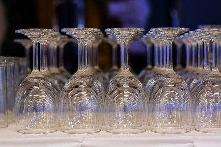 array: Array of glasses Stock Photo